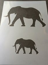 Elephant  Mylar Reusable Stencil Airbrush Painting Art Craft DIY home