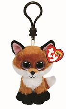 SLICK FOX - Ty Beanie Boos Keyring Key Clip - Plush Boo Babies Toy Teddy