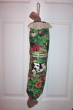 Bag Stuffer Plastic Grocery Bag Holder - Barnyard Cows Chickens and Pigs