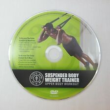 GOLD'S GYM Suspension Body Weight Trainer Upper Body Workout DVD Exercise TRX