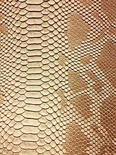 Beige Faux Viper Sopythana Snake Skin Vinyl Fabric - Sold By The Yard - 52""