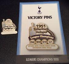 Danbury Mint Tottenham Hotspur victoria Pin Insignia Colección campeón de la Liga 1951