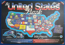 jigsaw puzzle 500 pc The United States map and state flags