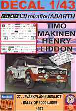 DECAL 1/43 FIAT 131 ABARTH T.MAKINEN 1000 LAKES 1977 (LIGHT) (02)