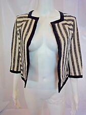 DEREK LAM Cropped Stripped Black and White Jacket Sz 0