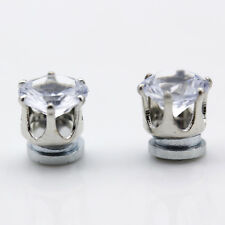 2pcs Magnetic Ear Stud No Piercing Clip on Crystal Mens Womens Earrings Gifts