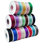 """25YDS Double Faced Sided Satin Ribbon Crafts 1/8""""~1.5"""" Inch Width Many Colors"""