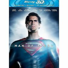 Man Of Steel (3D Blu-ray, 2013, 2-Disc Set, Box Set)