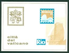 Vatican City Philatelic Show mint  Postcard: Brasiliana 83
