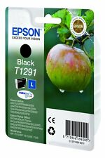 Genuine Epson T1291 Black Ink Cartridge for Stylus SX440w SX438w SX430w SX445w