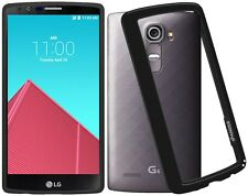 AMZER BLACK BORDER SHOCKPROOF BUMPER CASE COVER FOR LG G4