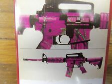 CAMO RIFLE BREAK UP PINK LIFESTYLE MOSSY OAK AR - 15 Wrap Precut Universal Fit