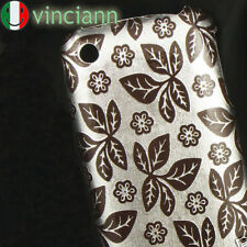Custodia back cover FOGLIE E FIORI x iPhone 3G S NERO