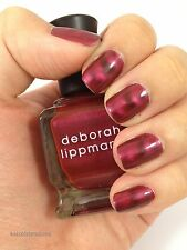 NEW! Deborah Lippmann Big Red Machine Polish Lacquer - full size magnetic wave