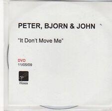 (ED731) Peter, Bjorn & John, It Don't Move Me - 2009 DJ DVD