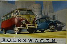 VOLKSWAGEN AUTO  BLECHSCHILD 20 x 30 CM  (BS 257)