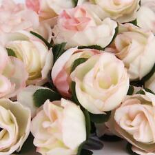 50pcs 3cm Artificial Silk Rose Flower Heads Wedding Decoration- Light pink