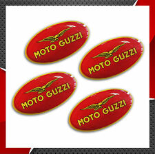 KIT 4 STICKERS ADESIVI RESINATI 3D AUTO MOTO GUZZI EAGLE AQUILA CALIFORNIA CASCO