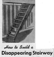 Build Disappearing Stairway Foldup Stairs Attic Access Stairs Ladder #41