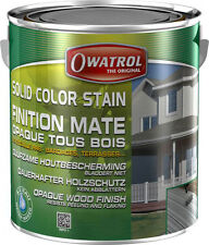 Solid Color Stain antikgrau 1l Holz Wetterschutz Farbe Holzfarbe Anstrich Farbe