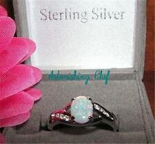 AVON STERLING SILVER CREATED OPAL RING & GIFT BOX SZ 6