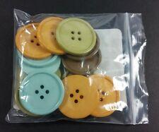 """Stampin' Up! Buttons SPICE CAKE Large Designer Buttons 1-1/2"""" NEW"""