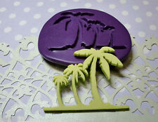 Silicone Mold Palm Tree Mould (38mm) Fondant Cake Topper Sugarcraft Clay Jewelry