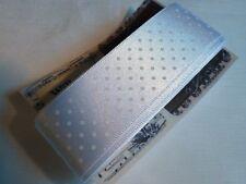 Polka Dot De Cinta De Raso - 25mm - 3yds-Blanco............ r116 *