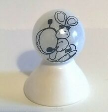 FUNNY RABBIT PLAYING A DRUM IMAGE ON WHITE PEARL MARBLE