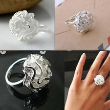 Korean Lady Fashion Jewelry Flower Rose  Section Rings Adjustable Best Gift