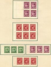 Canada Stamp Collection Inc Mint 1943 Booklet Panes On Album Page (Ref: C333)