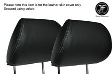 GREY STICH 2X FRONT HEADREST SKIN COVERS FITS HONDA CIVIC FK2 TYPE S MK8 06-12