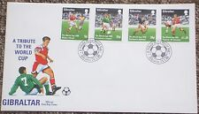1998 World Cup France GIBRALTER  FDC - A Tribute to the World Cup (1)