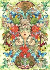 """Superbe Linda Ravenscroft original """"Rio"""" Fantasy Fée peinture tropical"""