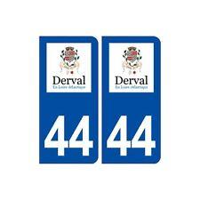 44  Derval logo ville autocollant plaque stickers arrondis