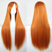"""Orange 32""""Cosplay Wig High Quality Hair Women Resistant Long Wave Full Wigs"""