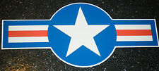 2 x USAF USAAF HOTROD CAR STICKER DECAL UNITED STATES US AIRFORCE MUSTANG JET