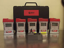 Lot of 5 Quest Technologies SafeLog 100 Personal Gas Monitor With Case-m785