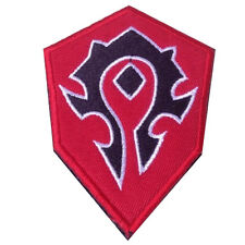 WOW World of Warcraft PATCHES ORC ARMY RED EMBROIDERED MORALE BADGE HOOK PATCH