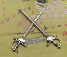 5 PCS 84 x22mm Simple and fashionable western sword alloy charm pendant