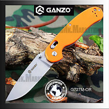 GANZO G727M-OR · 440C · G10 · Orange · Axis Lock · Genuine GANZO Folding Knife