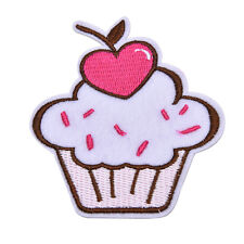 Pink Ice Cream Embroidered Patch Iron On Motif Sew On Iron On Applique DIY  LE