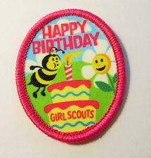 "New Girl Scout Fun Patch ""Happy Birthday"""