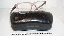 New Authentic CHANEL RX Eyeglasses Clear Pink Quilted 3325 C.1533 52 17 135