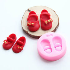 1Pc Silicone Baby Girl Shoes Fondant Cake Chocolate Mold Mould Suger Baking Tool