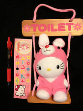 NWT~HELLO KITTY BUNNY On a Swing Plush Door or Wall Hanger FROM JAPAN-ship free