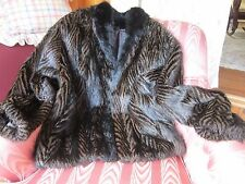 Fillet Opossum Jacket Womans Coat Furs By Guarino Size Womens Med/Large