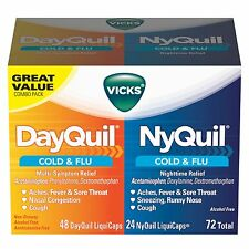 Vicks Day & Night NyQuil & DayQuil LiquiCaps Cold & Flu Combo Pack - 72 ct
