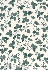 Green Leaves Vining White Background Leaf Double Roll Bolt Wall Paper Wallpaper