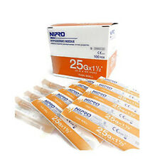 """NIPRO HYPODERMIC Dispensing NEEDLE 25g x 1 1/2"""" (0.5 x 40 mm)100 pieces"""